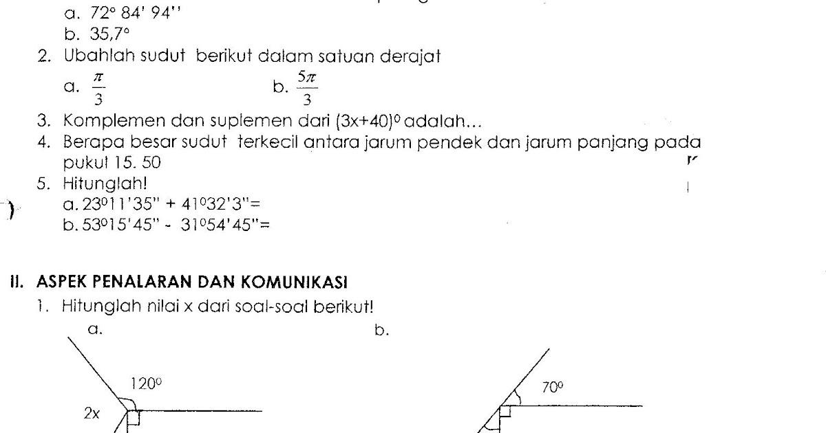 Starbung Soal Geometri Sudut Kelas 7
