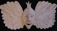 Krönt ängel