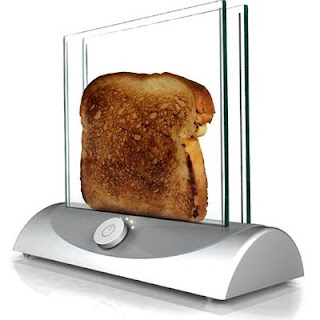 Hot glass bakes toast ?