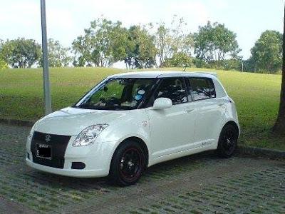 Suzuki Swift White Pearl. Model: Suzuki Swift