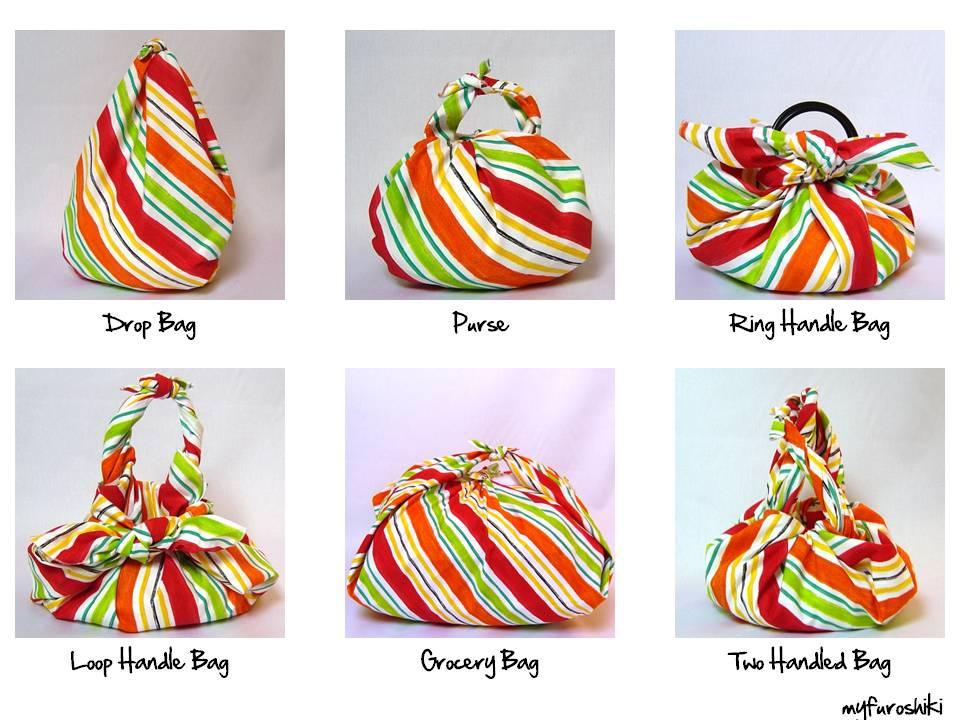 Myfuroshiki My Flexible Furoshiki Summer Bag