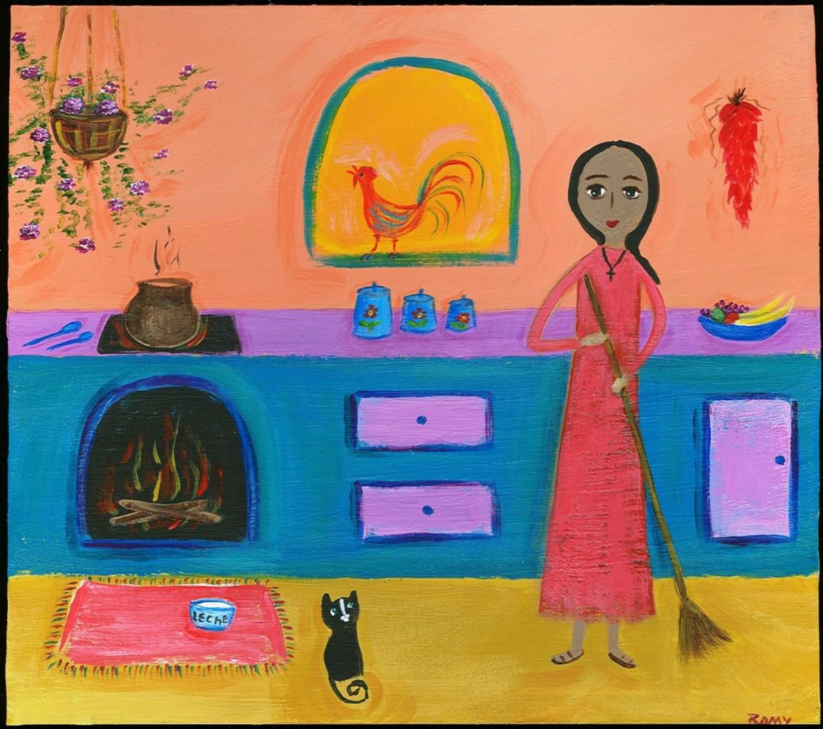 Kitchen Folk Art: Mexican Folk Art Paintings-Original Artwork Direct From