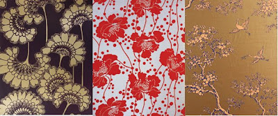 flowerpress vintage block print wallpaper