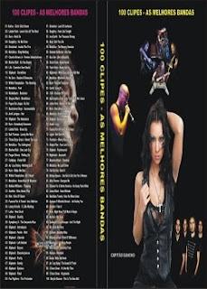 100+CLIPES 100 Clipes   As Melhores Bandas   DVD R
