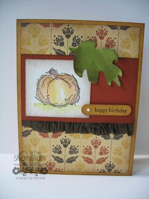 Autumn Harvest Birthday Card