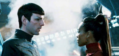 Zach Quinto and Zoe Saldana in Star Trek