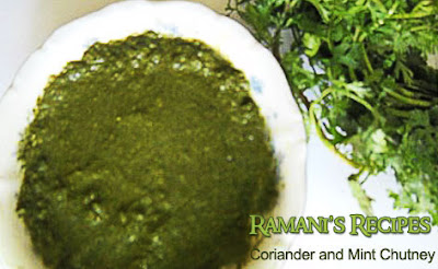 Say It Hot n Spicy With Green Leaf Chutneys - Coriander and Mint Chutney - Ramani's Recipes