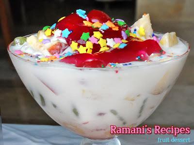 Quick Fruit Dessert - Ramani's Recipes