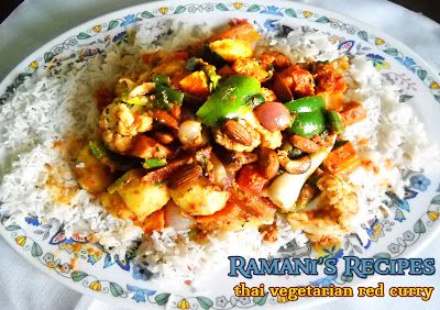 Thai Vegetarian Red Curry - Ramani's Recipes