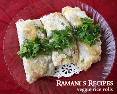 Veggie Rice Rolls - Ramani's Recipes