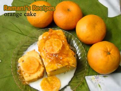 Orange Cake - Ramani's Recipes
