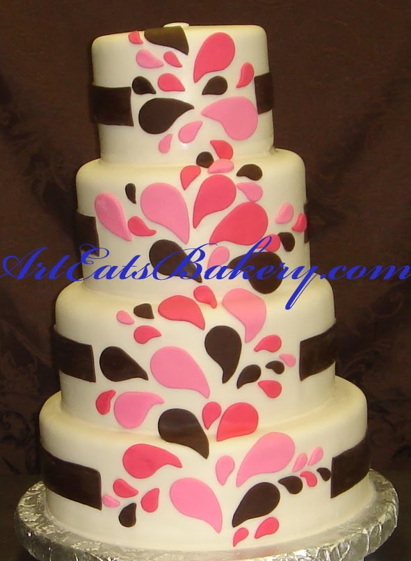 Cake Designs With Fondant : Art Eats Bakery custom fondant wedding and birthday cake ...