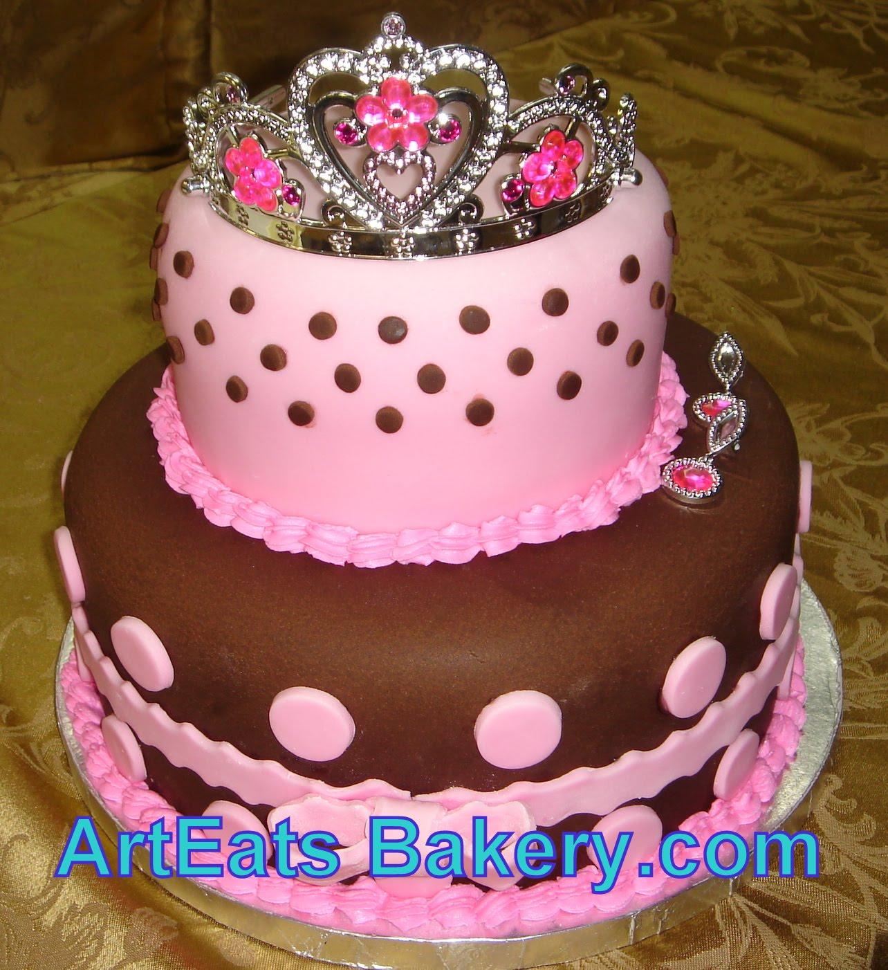 Princess Cake Designs Little Girl : Art Eats Bakery custom fondant wedding and birthday cake ...