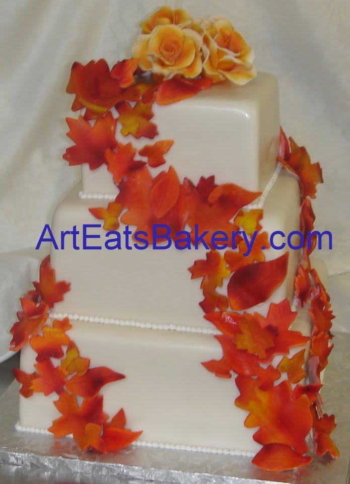 Wedding Cake With Fondant Roses Fondant cake roses ideas de Two