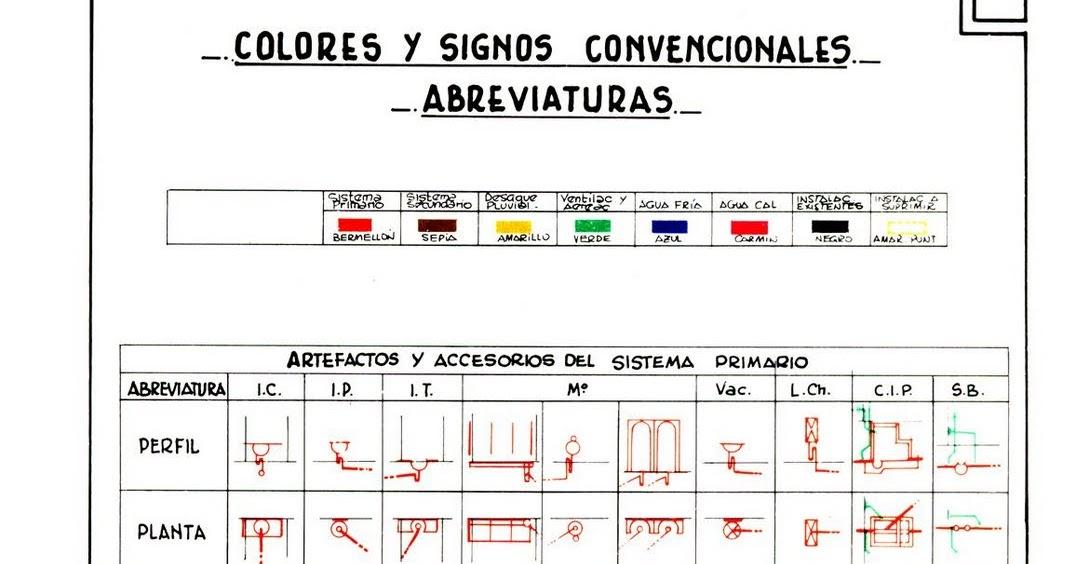 Instalaciones sanitarias simbolog as y colores sanitarios 1 - Abreviatura de arquitecto ...