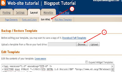 How to Change Blogspot Template