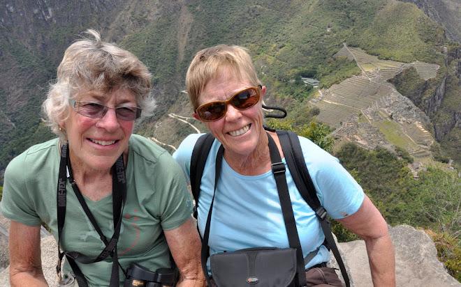 Marie & Jillian at Machu Picchu