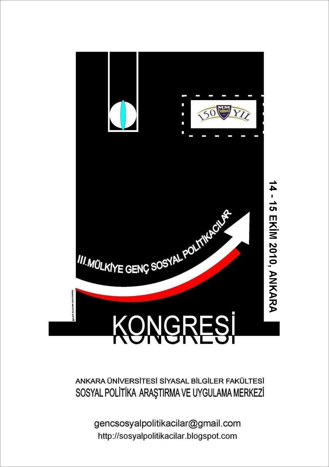 Iii mülkiye genç sosyal politikacılar kongresi afişi