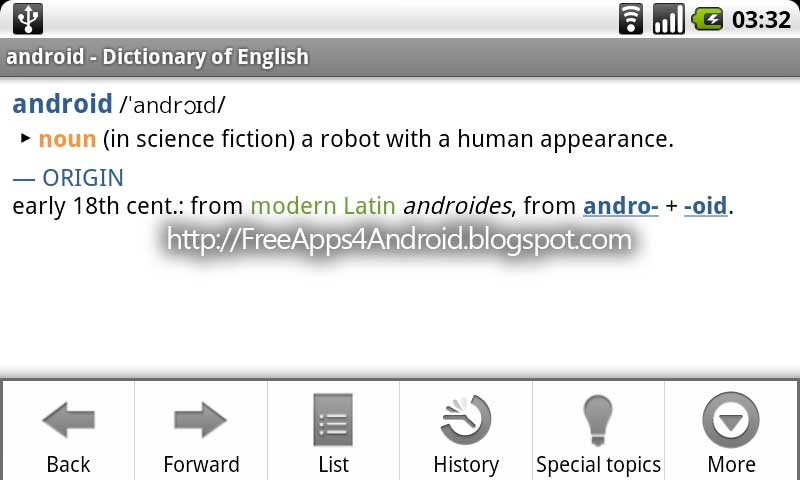 Free Apps 4 Android: Oxford Dictionary Of English v2.12