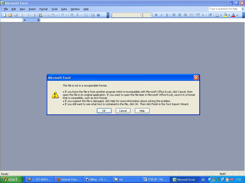 KETIKAN: Microsoft Office Word needs a converter to display this file ...
