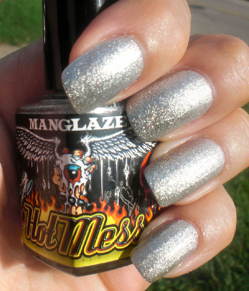 Concrete And Nail Polish: ManGlaze Hot Mess