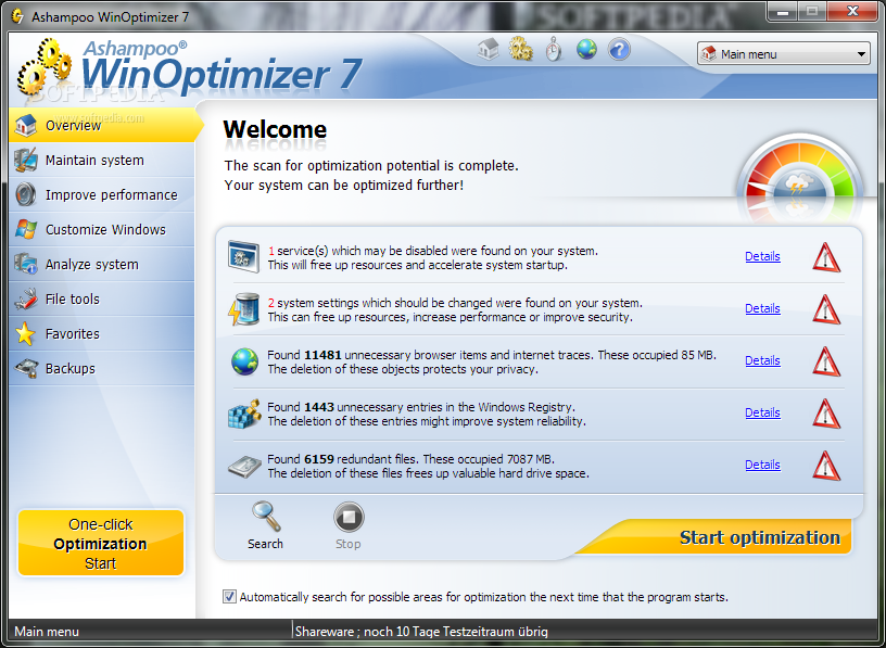 Windows 7 optimizer