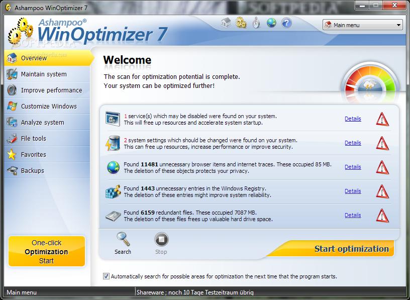 Windows optimizer