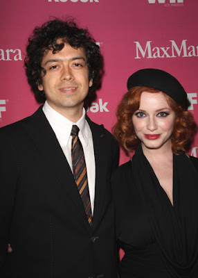 Mad Men Actress Christina Hendricks Geoffrey Arend  Marries pics
