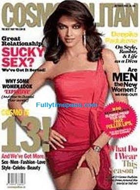 Deepika Padukone on Cosmopolitan Magazine Cover