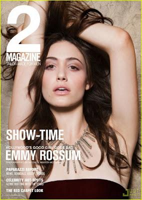 Emmy Rossum In 2 Magazine Cover