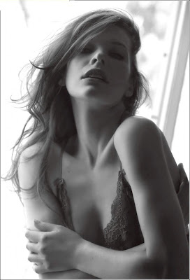 Mila Jovovich in Italian Maxim bold photo