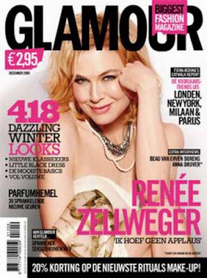 Renee Zellweger on Glamour Netherlands Magazine pics