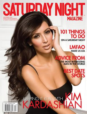 Kim Kardashian covers Saturday Night Magazine