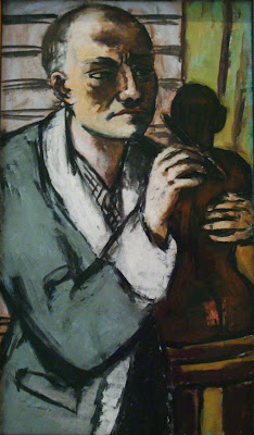 Max Beckmann: Self-Portrait with Grey Nightgown