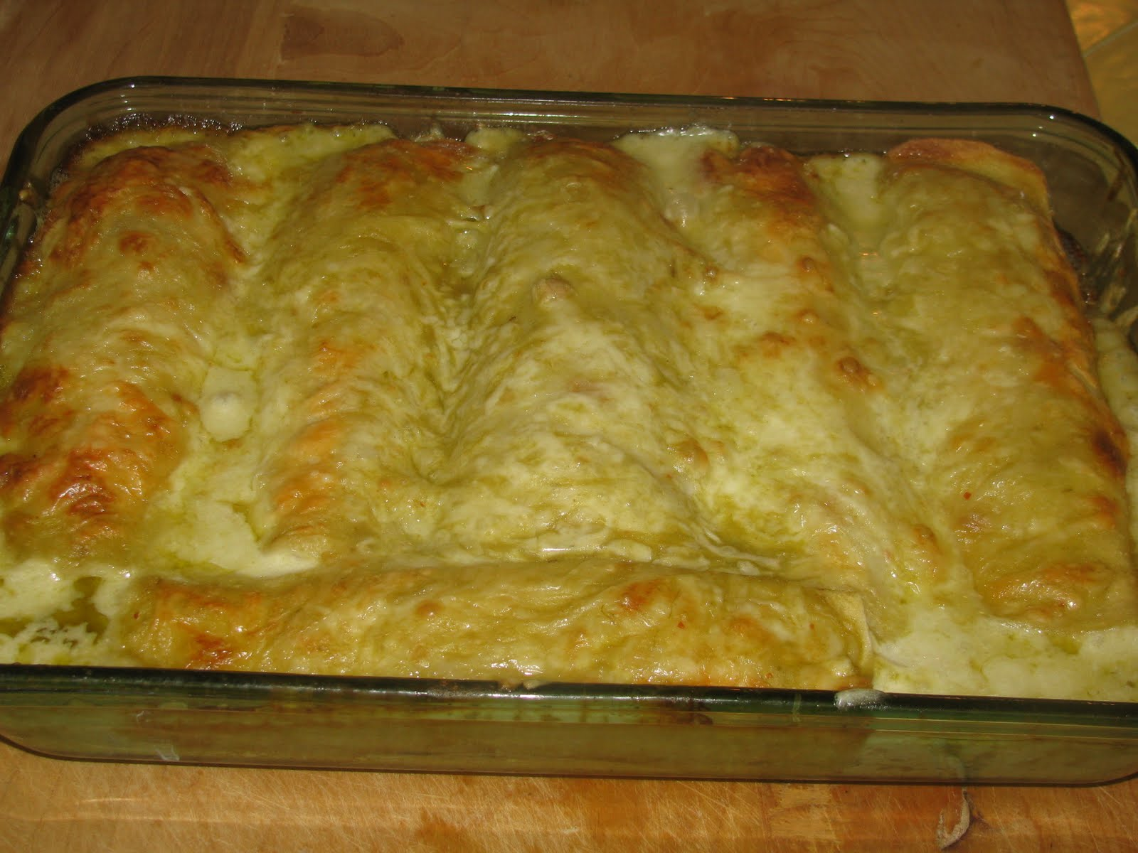Shamrocks and Shenanigans: Creamy Turkey Enchiladas