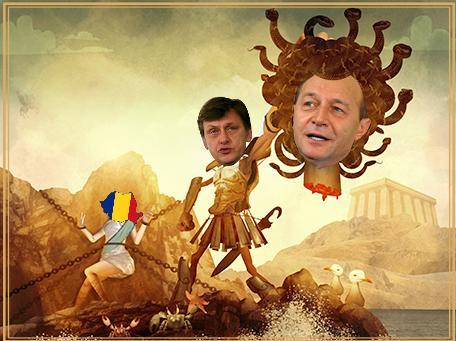 Crin Antonescu si Basescu