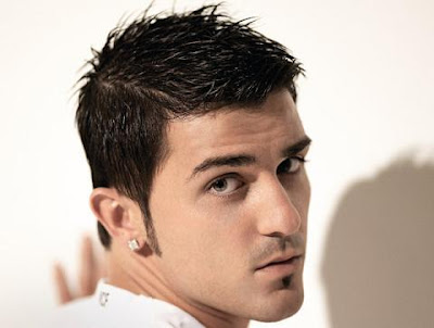 David Villa formal faux mohawk hairstyle