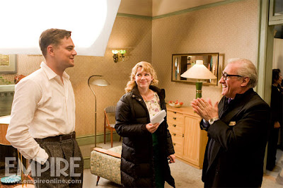 leonardo DiCaprio on the set of Shutter Island