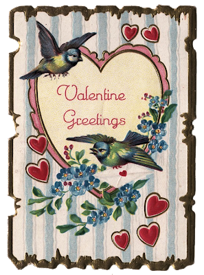 Vintage Valentines on This Is A Cute Vintage Valentine With 2 Little Birds   A Multitude