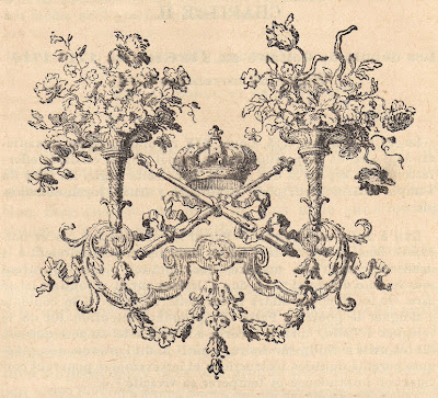 Free Antique Clip Art - French Ornament with Crown