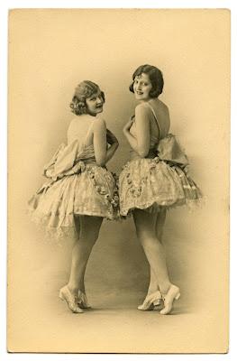vintage ballerina graphics