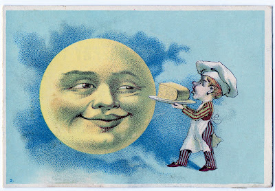 Victorian Man in the Moon Cheese
