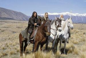 Viggo Mortensen, Orlando Bloom e Ian McKellen en El Señor de los Anillos: Las Dos Torres