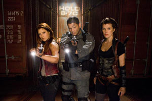 Ali Larter, Wentworth Miller y Milla Jovovich en Resident Evil: Ultratumba