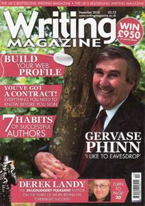 Portada de Writing Magazine, diciembre 2010