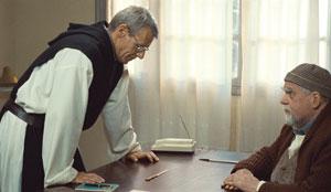 Lambert Wilson y Michael Lonsdale en De dioses y hombres