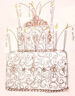She wanted an ultra fancy cake with all the bells and whistles