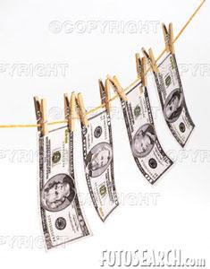 Imagem Notas de Dólar em Varal