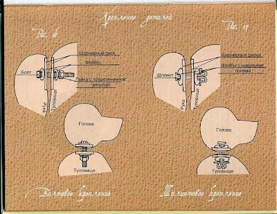 Как сделать шарнир из пуговиц