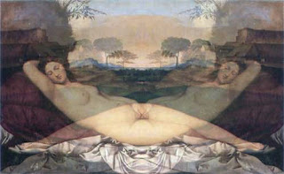 Sleeping Venus, mirrored